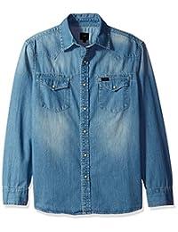 Lee 男士长袖牛仔衬衫