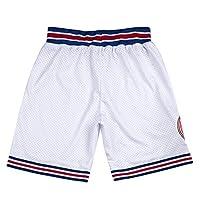 青年太空电影短裤男孩篮球短裤 90S 儿童运动短裤 S-XL 白色/黑色