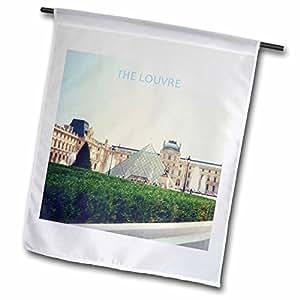 florene 法国–louvre IN PARIS–旗帜 12 x 18 inch Garden Flag