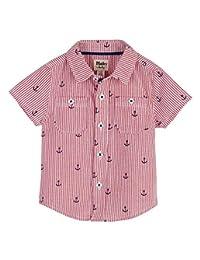 Hatley 帽子 休闲 衬衫 下装 纽扣领衬衫 红色 S19ANI1380 红色 75~80cm、9M-12M(74-79cm)