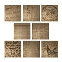 Tim Holtz 创作 Kraft Resist 纸藏,24 张,12 x 12 英寸纸,8 种设计,每包 3 张,黑色,TH92918