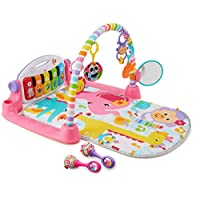 Fisher-Price 豪华健身架踢踏钢琴游戏毯 & maracas 粉色