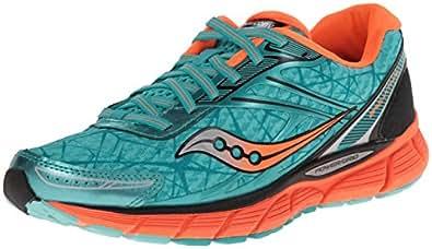 索康尼女式 breakthru 跑步鞋 Blue/Vizi Orange 5 B(M) US