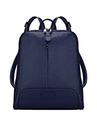 S-ZONE 女士真皮背包钱包旅行包适合 14 英寸笔记本电脑升级版