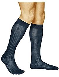Vitsocks 及膝袜 男式 * 经预缩处理的中筒棉长裤(2 包)罗纹优雅