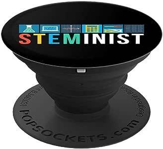 Steminist Support STEM 科学技术手机配件 - PopSockets 手机和平板电脑握架260027  黑色
