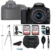 Canon 佳能 EOS 250D / Rebel SL3 数码单反相机机身 w/Canon EF-S 18-55mm f/3.5-5.6 镜头 Pixibytes 高级套装 - 国际模型