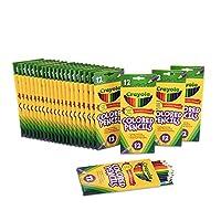 Crayola 绘儿乐 多件装 彩色铅笔,预磨尖,返校用品,12种颜色,24件装