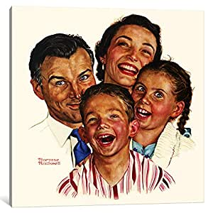 "iCanvasART 1 Piece The Greatest Joys Are Shared Canvas Print by Norman Rockwell, 37 x 37""/0.75"" Deep"