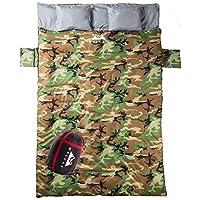 WellaX 双睡袋 适合露营、徒步或徒步旅行的完美睡袋 - 超大号 3 季防水睡袋 适合 2 人成人