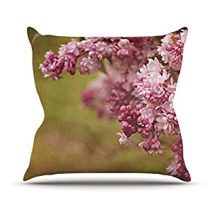 Kess Angie Turner Lilacs Pink Flower Outdoor Throw Pillow