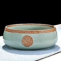AlfunBel艾芳贝儿茶洗水洗哥窑陶瓷大号笔洗创意个性杯洗茶具配件茶道工具(可做花器)-神兽C-8-7