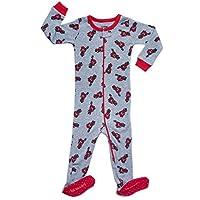 Leveret 男嬰連腳睡衣睡衣 * 純棉 幼童和幼童貓頭鷹睡衣(6 個月-5 學步兒童)