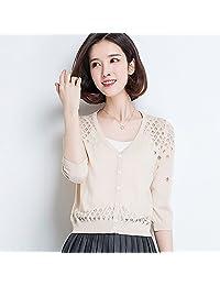 DaiQimi 黛琪迷 2018春装新款冰丝针织衫外套短款防晒外搭空调衫毛衣针织开衫女