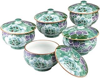 茶具 : 有田烧 彩牡丹 茶叶 套装(1个、茶杯2个) 绿色 -