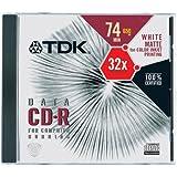 TDK CD-R74PWCX CD-R,74 分钟,650MB(白色,单个)