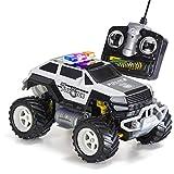 Prextex 遥控怪兽警察卡车无线电控制警车玩具男孩遥控车,带灯光,适合 3 岁以上男孩的圣诞礼物