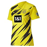Puma 女式 BVB 家庭衬衫 复制 Ss W.赞助商 新款 T 恤