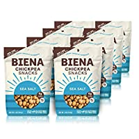 Biena Roasted Chickpea Snacks, Sea Salt, 5 Ounce, 8 Count