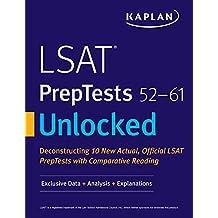 LSAT PrepTests 52-61 Unlocked: Exclusive Data + Analysis + Explanations (Kaplan Test Prep) (English Edition)