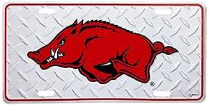 NCAA Arkansas Razorbacks Diamond Plate Car Tag
