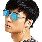 LOHO眼镜生活 太阳镜男款运动简约框高清墨镜方框太阳眼镜 P3036