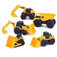 CAT 卡特彼勒 迷你工程车模型5合一套装儿童玩具运泥车推土机装泥车压路机反铲挖土机34601