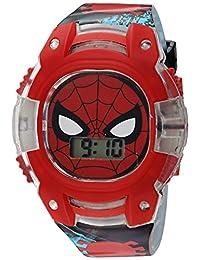 Marvel 男童石英塑料休閑手表,顏色:黑色(型號:SPD4474)