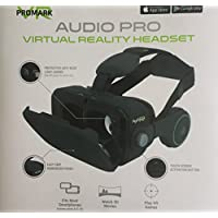 ProMark Virtual Reality Goggles With Built In Headset For Google Play, App Store, Fits Most Smartphones