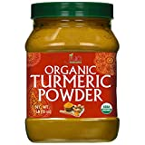 Jiva Organic Turmeric Powder 1 Pound Jar - 100% Raw with Curcumin