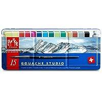 Caran d'Ache Gouache Studio 15 多色金屬罐套裝