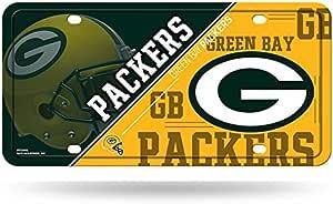 Rico NFL 绿湾包装工队金属车牌标签,15.24cm x 30.48cm,多色
