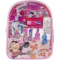 Townley Girl Minnie Mouse 背包漫画套装包括:唇彩紧凑型、蝴蝶结发饰、*油、*油、唇膏、趾垫片、*贴