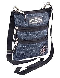 Harley-Davidson 女式斜挎包吊带钱包,蓝雨 99616-蓝色