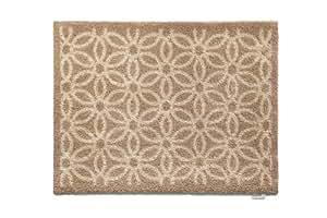 Hug Rug 65cmx85cm Home 18 Design, Highly Absorbent Dirt Trapping Indoor Barrier Mat, Beige Daisy