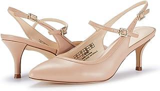 JENN ARDOR 女士闊跟涼鞋露趾帶腳踝綁帶晚禮服粗跟涼鞋