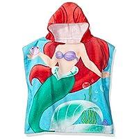 Disney Little Mermaid Ariel Splash 毛绒海滩/浴巾 Hooded Red JF68265EFL