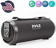 无线便携式蓝牙Boombox 扬声器 - 100 瓦可充电 Boom Box 音箱便携式音乐桶大声立体声系统,带 AUX 输入,MP3/USB/SD 端口,Fm 收音机,2.5 英寸高音扬声器 - Pyle PBMSPG