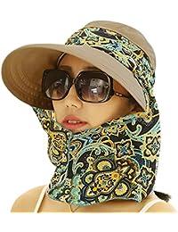 卷起宽边遮阳帽 UPF 50+ UV 防护太阳帽带护颈