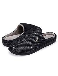 VIFUUR 男士室内*泡沫拖鞋毛绒内衬防滑家居鞋