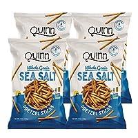 Quinn Snacks Classic Sea Salt Pretzel Sticks, 7 Oz Bag, 4Count