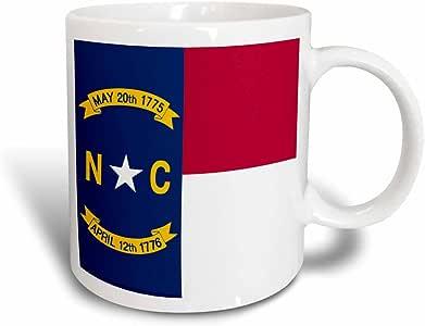 3drose inspirationzstore 国旗–国旗 OF 北卡罗来纳州 NC–美国尺码美国联合 State Of 美国美国–红色白色蓝色–GREAT SEAL–马克杯 黑色/白色 11 oz