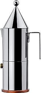Alessi Officina Alessi La Conica 6杯意大利浓咖啡咖啡机,银色