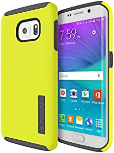 Incipio DualPro Carrying Case for Samsung Galaxy S6 Edge - Retail Packaging - Lime/Charcoal