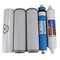 兼容 APEC Ultimate Complete 5 级高容量过滤器套装,适用于 RO-90 3/8 英寸 RO-HI RO 反渗透系统 FILTER-MAX-90-38 3/8 英寸,* 兼容 + 说明书和免费技术支持