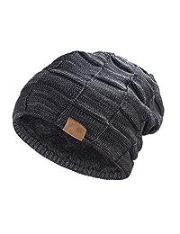 REDESS 无檐小便帽 男女 冬季保暖帽 针织松软厚 骷髅帽
