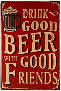 DL-Drink Good Beer with Good Friend 墙贴装饰性招牌海报