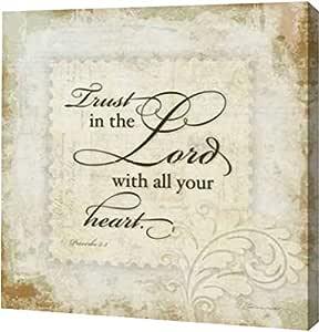 "PrintArt.com GW-POD-59-SM6437-16x16""Trust The Lord"" 帆布艺术印刷品 24"" x 24"" GW-POD-59-SM6437-24x24"