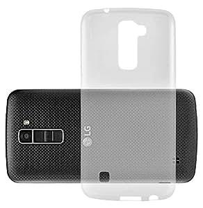 Cadorabo 手机壳与 LG K10 2016 超薄 TPU 硅胶保护套(设计 AIR) - 防震防刮擦凝胶外壳保护壳 保险杠皮肤后盖DE-106520 FULLY-TRANSPARENT