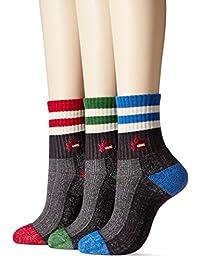 [郡是] 短袜 Logos Logos Logos (圆领长) 3双装 LLG708